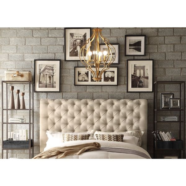 Moser Bay Furniture Calia Beige Tufted Upholstery Queen Headboard ...