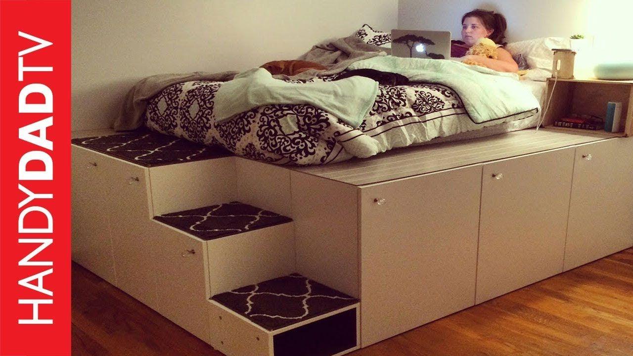 Conner S Room Ikea Hack Platform Bed Diy Ikea Platform Bed