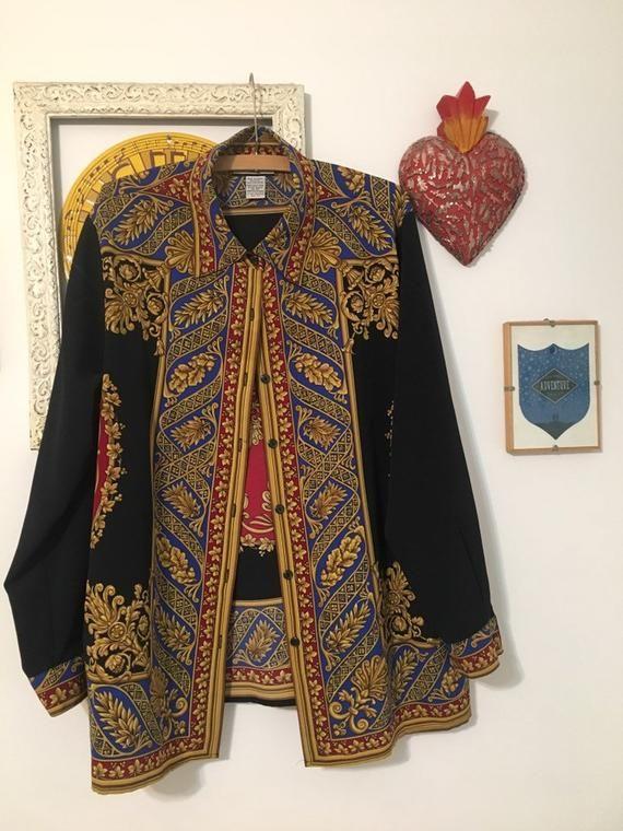 f8c0bbe98e2d Fancy Vintage Blouse in 2019 | Products | Blouse vintage, Versace ...