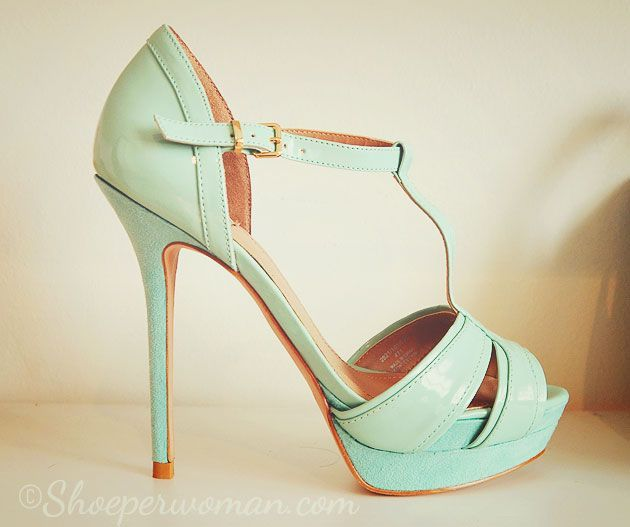 ad2c1dd8cd0 Shoe Review  Zara mint green t-bar platform sandals See more at https