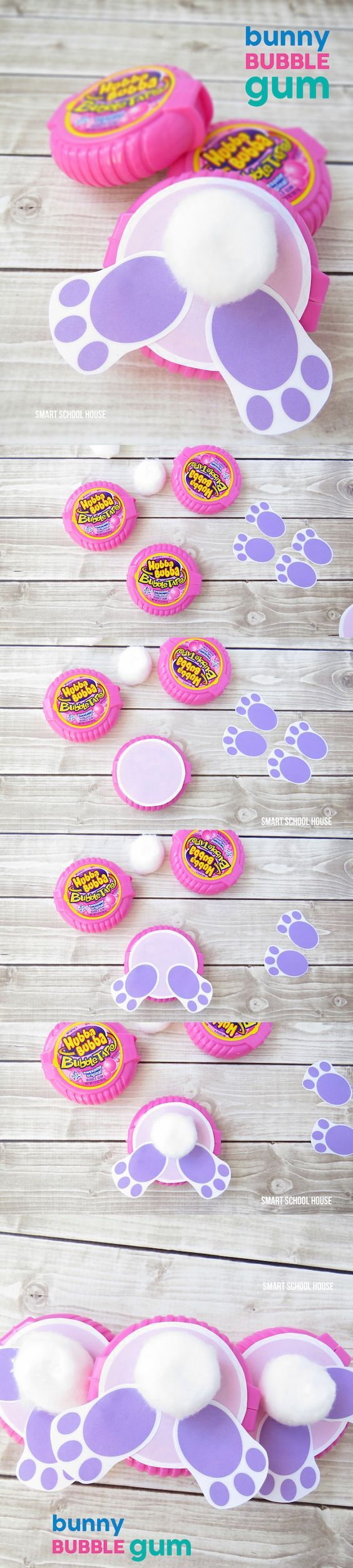 How to make bunny bubble gum using bubble tape gum a cute diy how to make bunny bubble gum using bubble tape gum a cute diy easter gift negle Image collections
