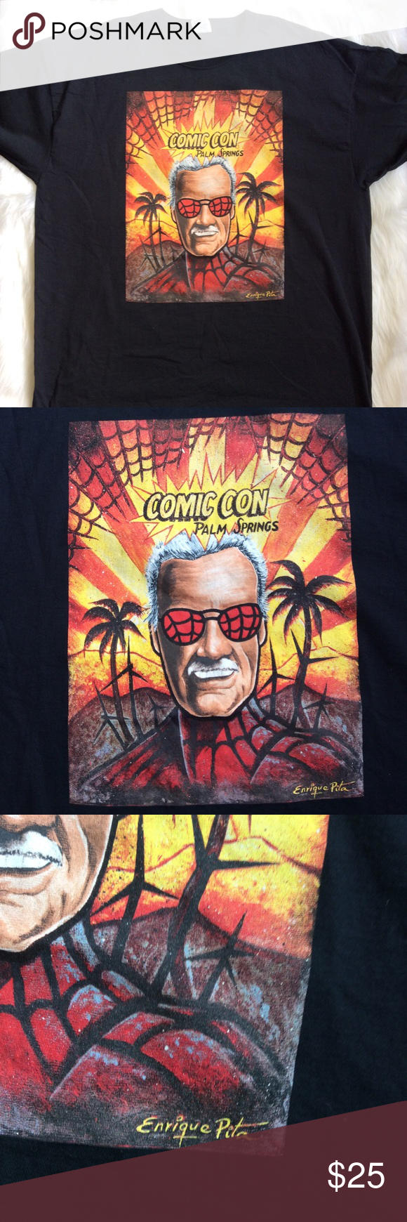 Comic Con Palm Springs Spider Man Stan Lee Tshirt Clothes Design Tshirt Art Fashion Design