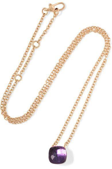 Nudo 18-karat Rose Gold Diamond Necklace - one size POMELLATO fiRng