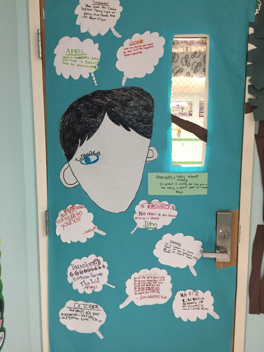 Book Cover Ideas For Wonder ~ Wonder door decoration contest for books we are currently
