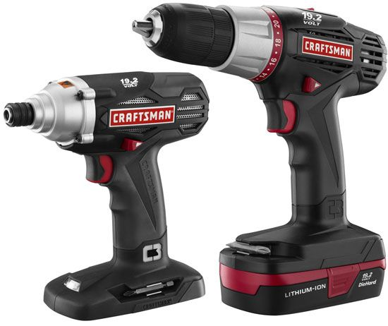 New Craftsman C3 Lithium Ion Drill Driver Kits And Battery Packs Tools Craftsman Power Tools Drill