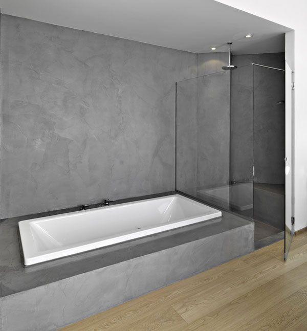 B ton cir salle de bain kitbetoncire salle de bain - Beton cire pour carrelage salle de bain ...