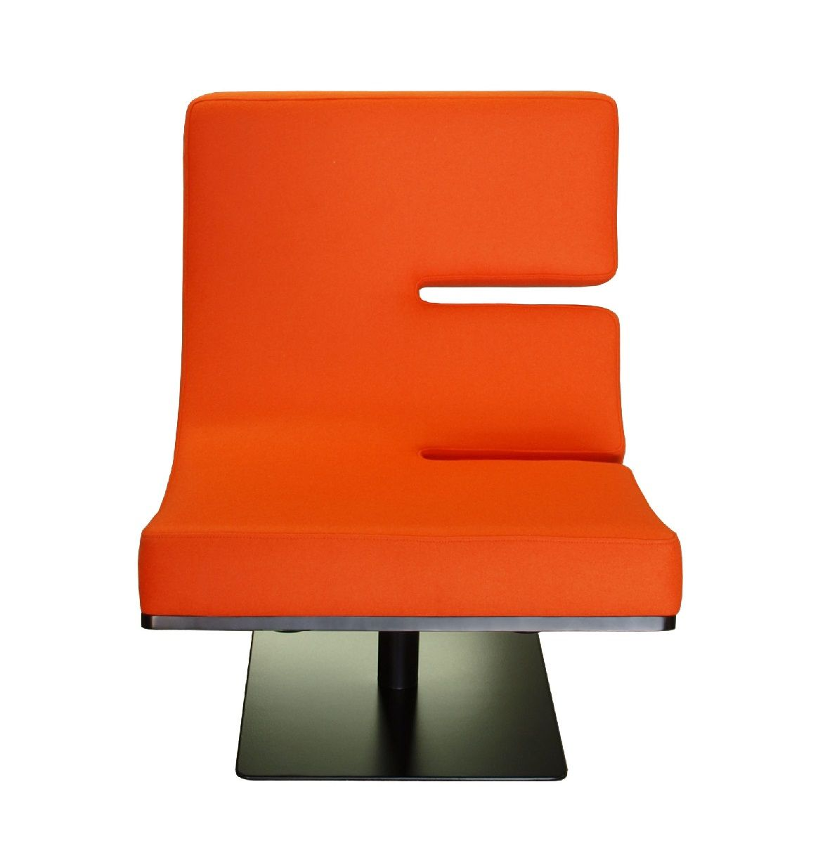 Typographia lounge chair letter e letter for Furniture 5 letters