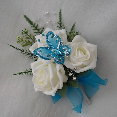 ivory roses get a whimsical touch thanks to an enchanting