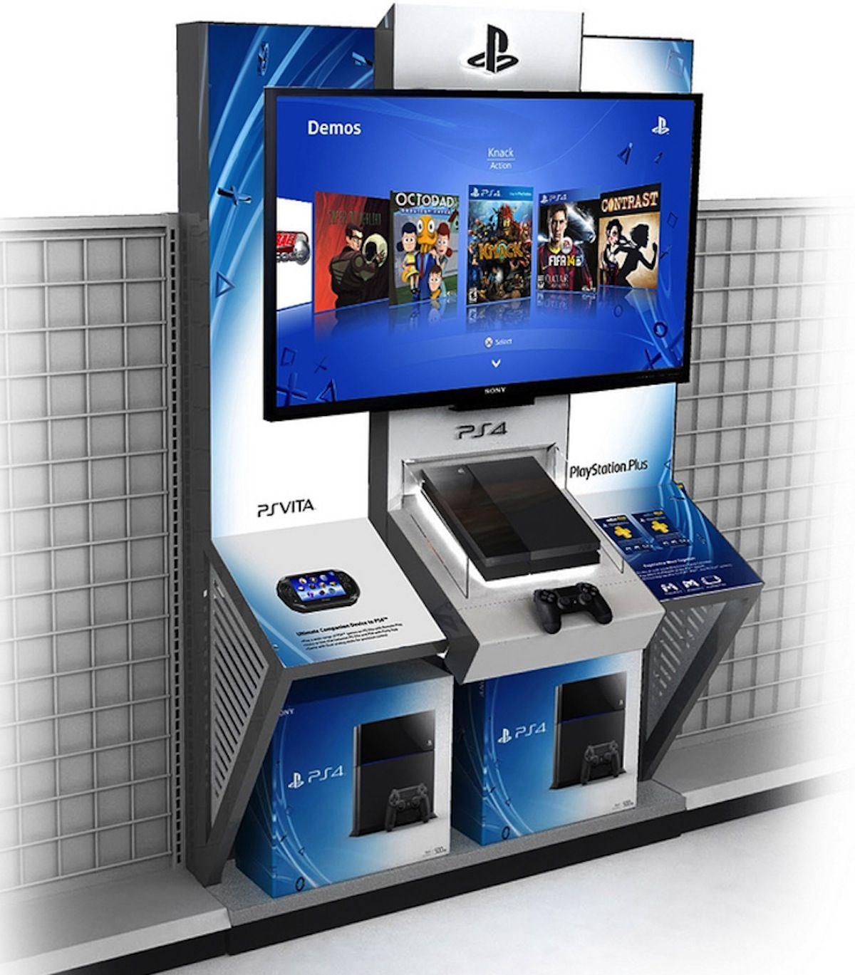 Playstation 4 Kiosks Spreading Throughout American Retailers Today Kiosk Design Retail Design Playstation