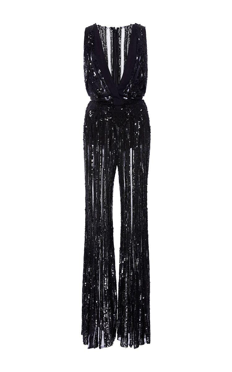 Sleeveless embroidered jumpsuit Elie Saab Sale Deals unwAHUpW
