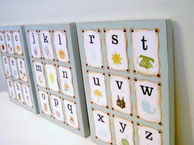 DIY: Alphabet Wall Art