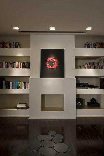 Modern Built In Bookshelves creative built-in | modern, fireplace modern and modern interiors