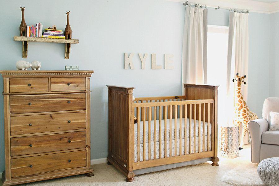 Nursery in legno per due gemelli Nursery, Idee cameretta