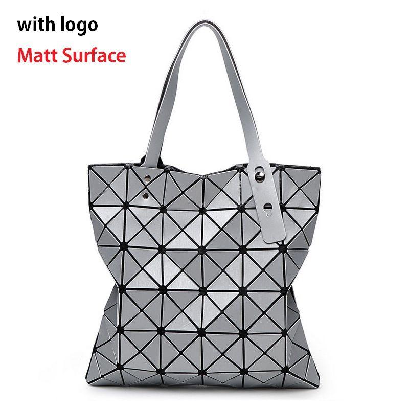 Bao Designer Style Geometric  Laser Women Shoulder Bag  PVC Totes Handbags Tops