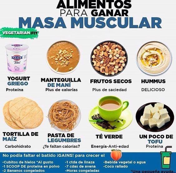 dieta a base de proteinas para aumentar masa muscular