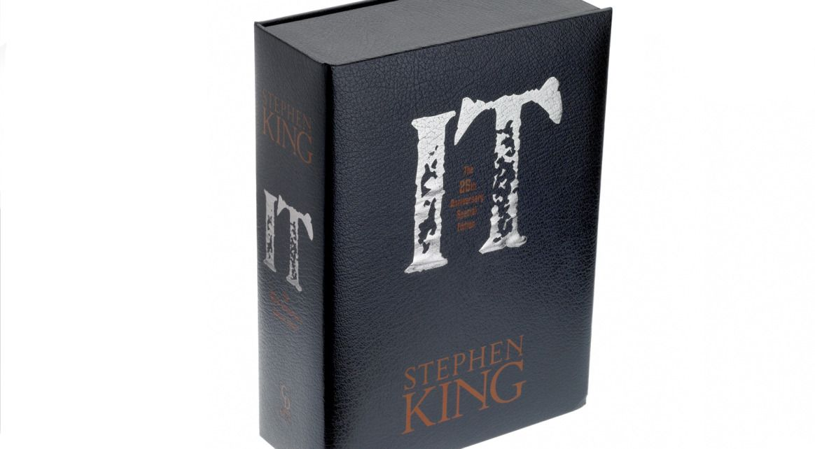 No clownin' around! We created this custom slipcase for the 25th Anniversary Edition of Stephen King's It