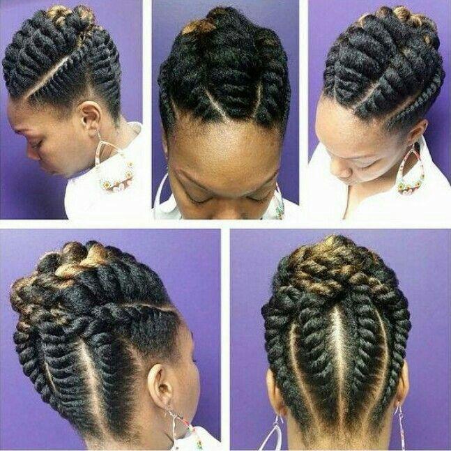 Scalp Twist Updo Natural Hair Updo Hair Styles Natural Hair Styles