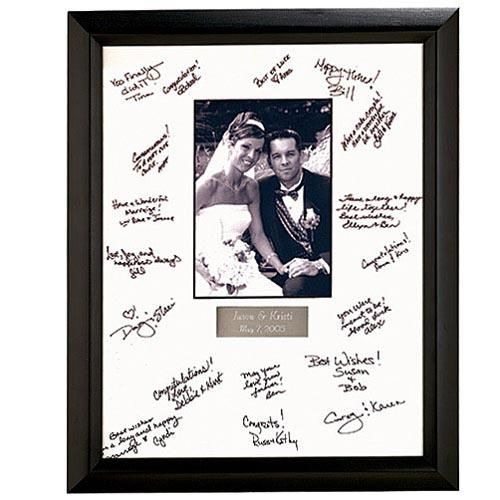 Signed Wedding Picture Frame I Want People To Sign My Wedding