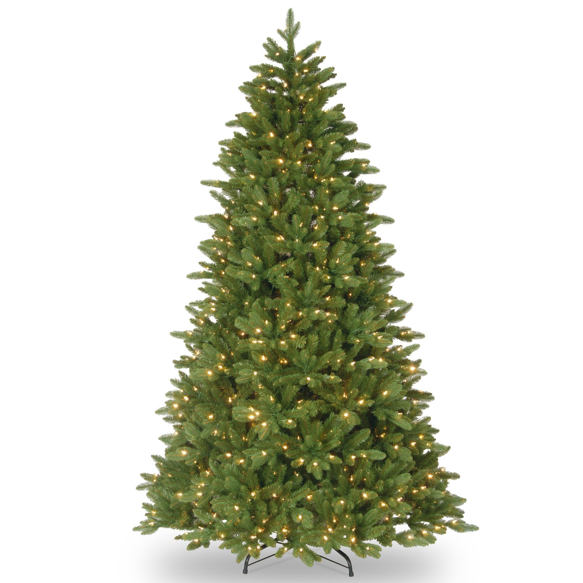 7 5 Green Ridgewood Spruce Artificial Christmas Tree With 750 Clear Lights And Stand