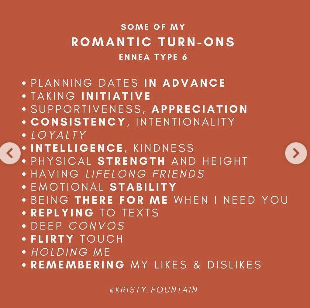 dating enneagram tip 6