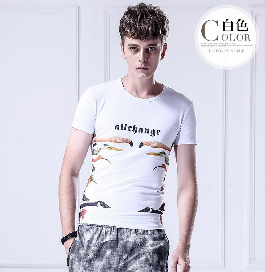 48f08b37dcb Fanzhuan Free Shipping New fashion casual male men s 2016 Animal summer  thin short sleeved white t