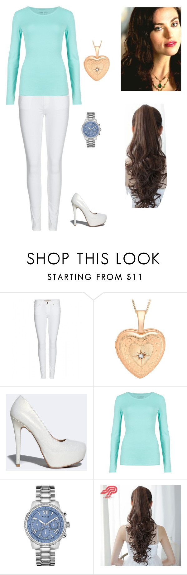 """Watchtower"" by agua12 ❤ liked on Polyvore featuring Burberry, Qupid, M&S Collection, GUESS, Pin Show, women's clothing, women's fashion, women, female and woman"