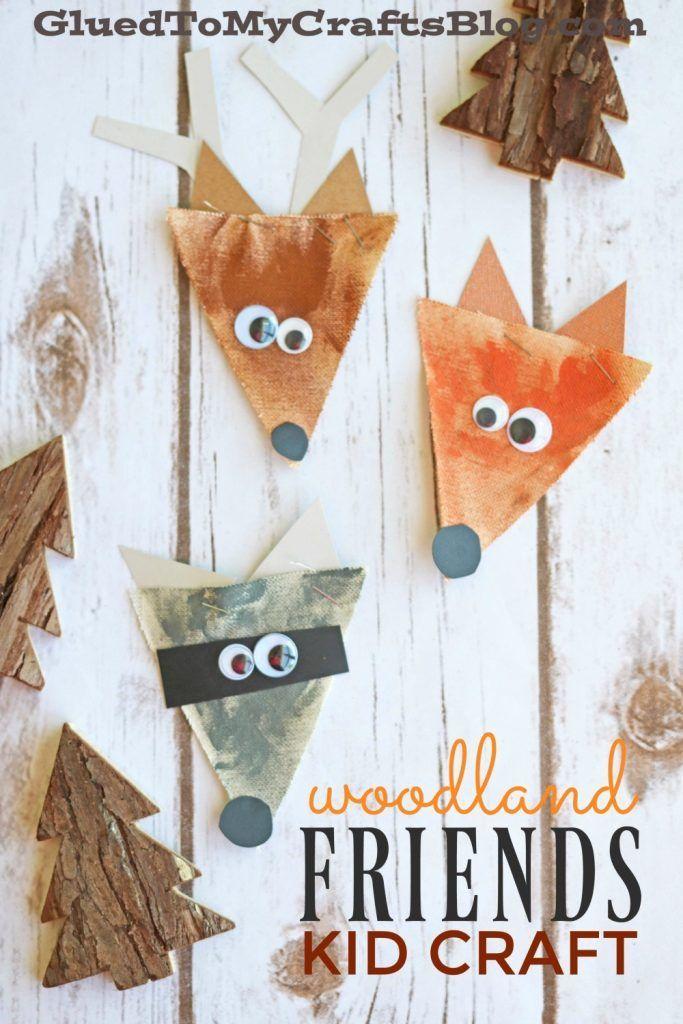 Burlap Woodland Creatures Kid Craft Kids Crafts Forest Animal