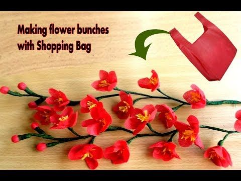 Making Flower Idea With Shopping Bag Making Flower Bunches