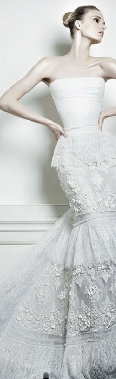The Millionairess Of Pennsylvania: White lace gown - Celia Kritharioti Spring 2013
