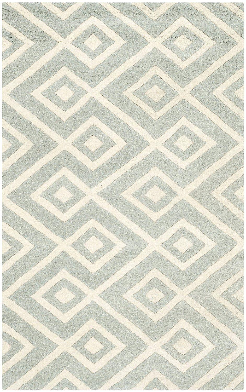 Safavieh Teppich Sloane handgetuftet, grau/elfenbeinfarben, 91 x 152 ...