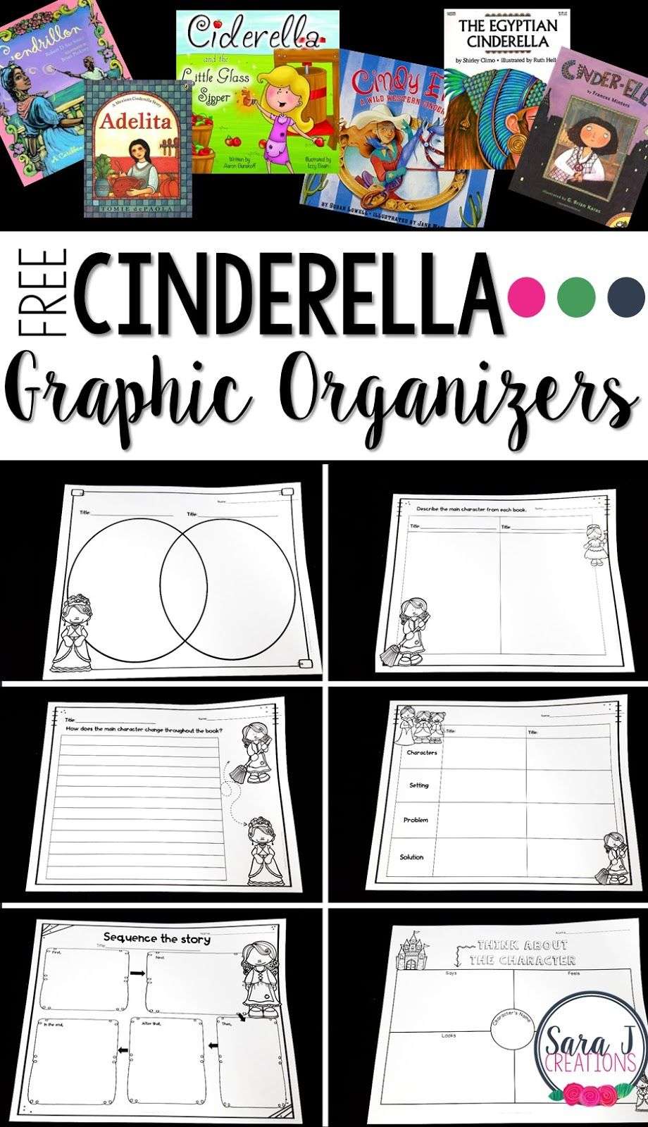 cendrillon venn diagram 4 wire to 5 trailer wiring free comparing cinderella graphic organizers fairy tales fables practice and contrasting different versions of the same story