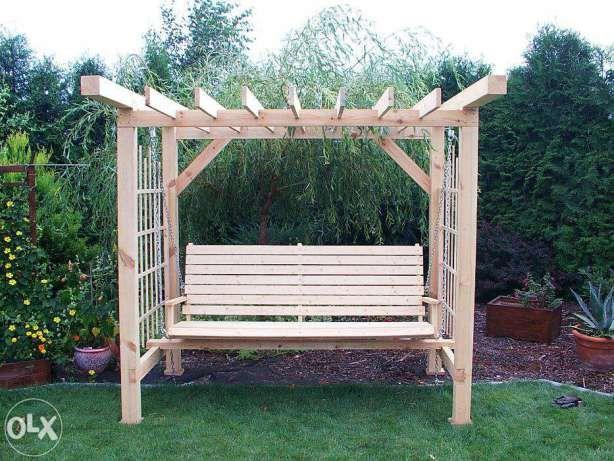 Hustawka Z Pergola Szukaj W Google Outdoor Decor Pergola Porch Swing