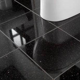 Black Marble Sparkles Floor Natural Stone Floor Tiles Limestone