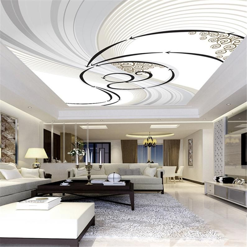 3d Wallpaper Custom Mural Non Woven Printed Wall Paper Abstract Art Living Room Roof Ceiling Wall Painting Wallpaper Murals In 2021 Custom Murals Ceiling Design Wall Painting Living Room