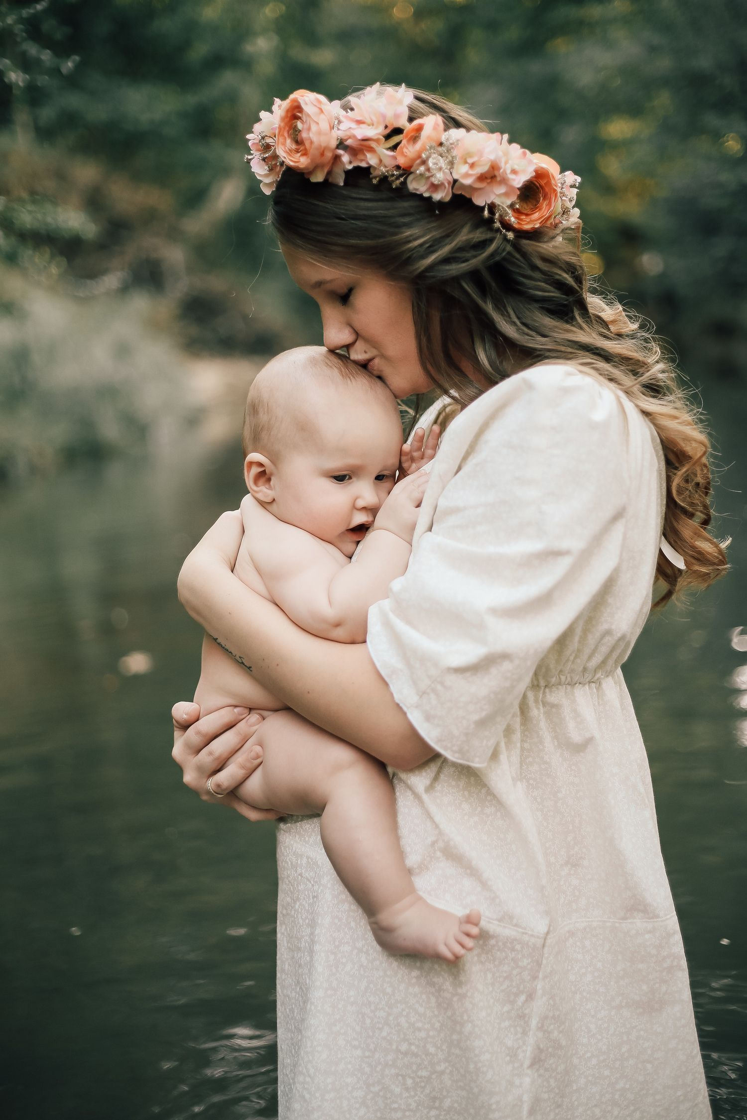 An Intimate Breastfeeding Session In The Creek The Bond