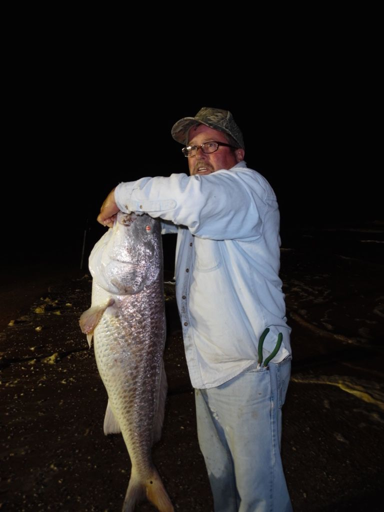 Wally with a big ole red drum - 5/2/15 - Catch and Release