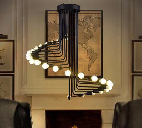Vintage 26 Bulb Staircase Ceiling Lamp Large Loft E27 Light