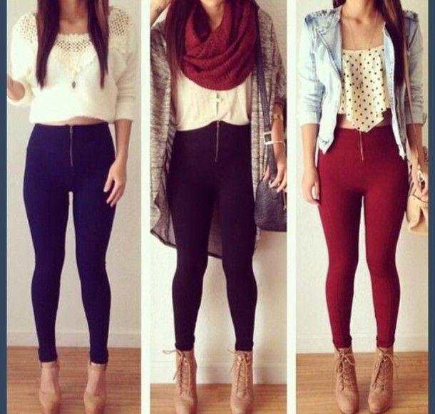 High Heels Leggings Outfits | blouse high heels spring ...