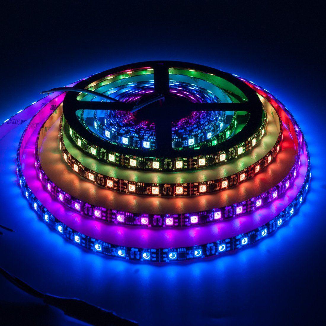 Amazon Com Btf Lighting Ws2811 5m 16 4ft 60leds X2f Pixels X2f M 300leds Ip65 Waterproof Black Pcb Flexible Addressable Strip L Strip Lighting Rgb Led Light