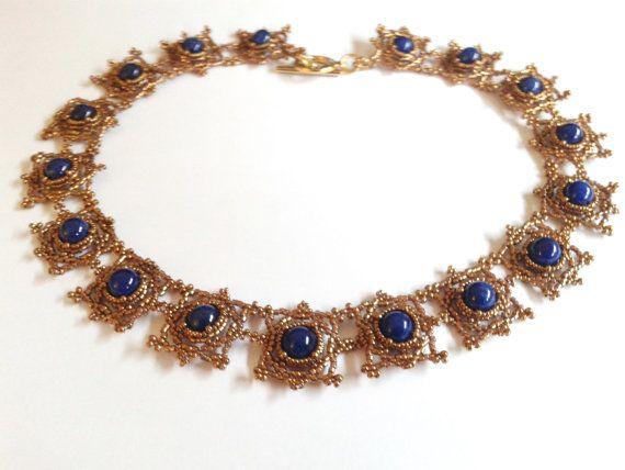 collana Sabine Lippert collana giada blu collana di tizianat
