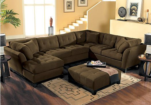 picture of cindy crawford metropolis espresso 4pc sectional living