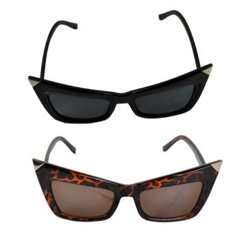Retro Lady Cat Eyes Sunglasses Óculos Shades Estilo Vintage