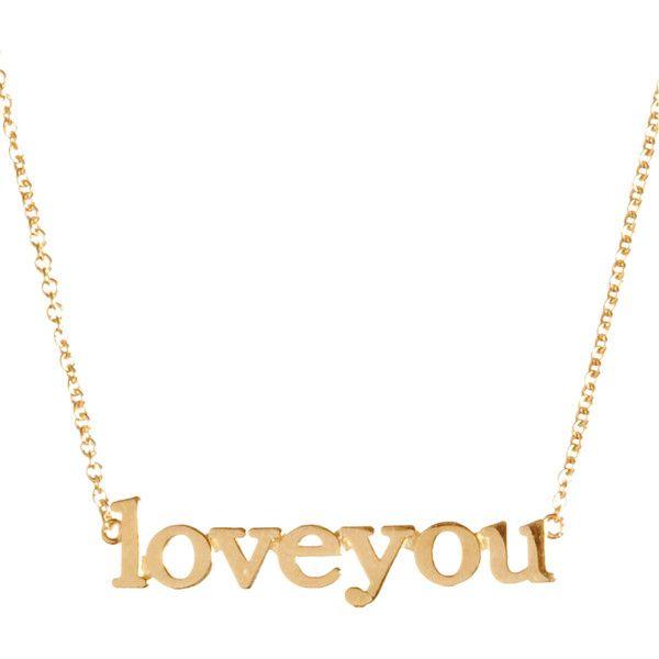 Jennifer Meyer 18k Gold Love You Necklace QgdToez