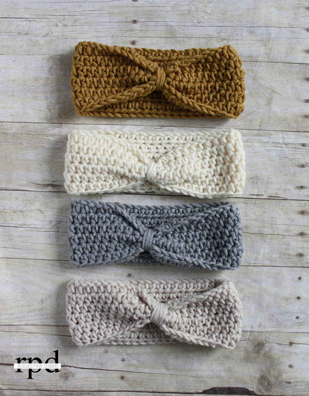 Knotted headband crochet pattern multiple sizes headband knotted headband crochet pattern multiple sizes bankloansurffo Image collections