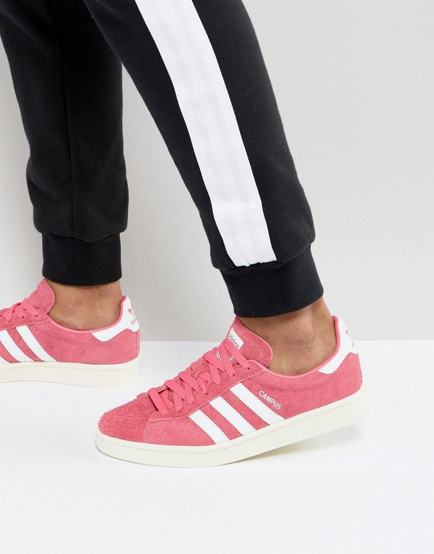 2076312884a ADIDAS ORIGINALS CAMPUS SNEAKERS IN PINK BZ0069 - PINK.  adidasoriginals   shoes