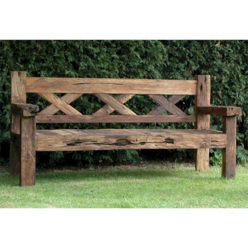 Simple Solid And Cheap Outdoor Wooden Patio Bench Ideas Banco