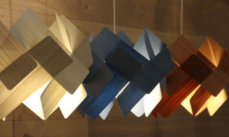 Semi Transpa Wood Pendant Lighting