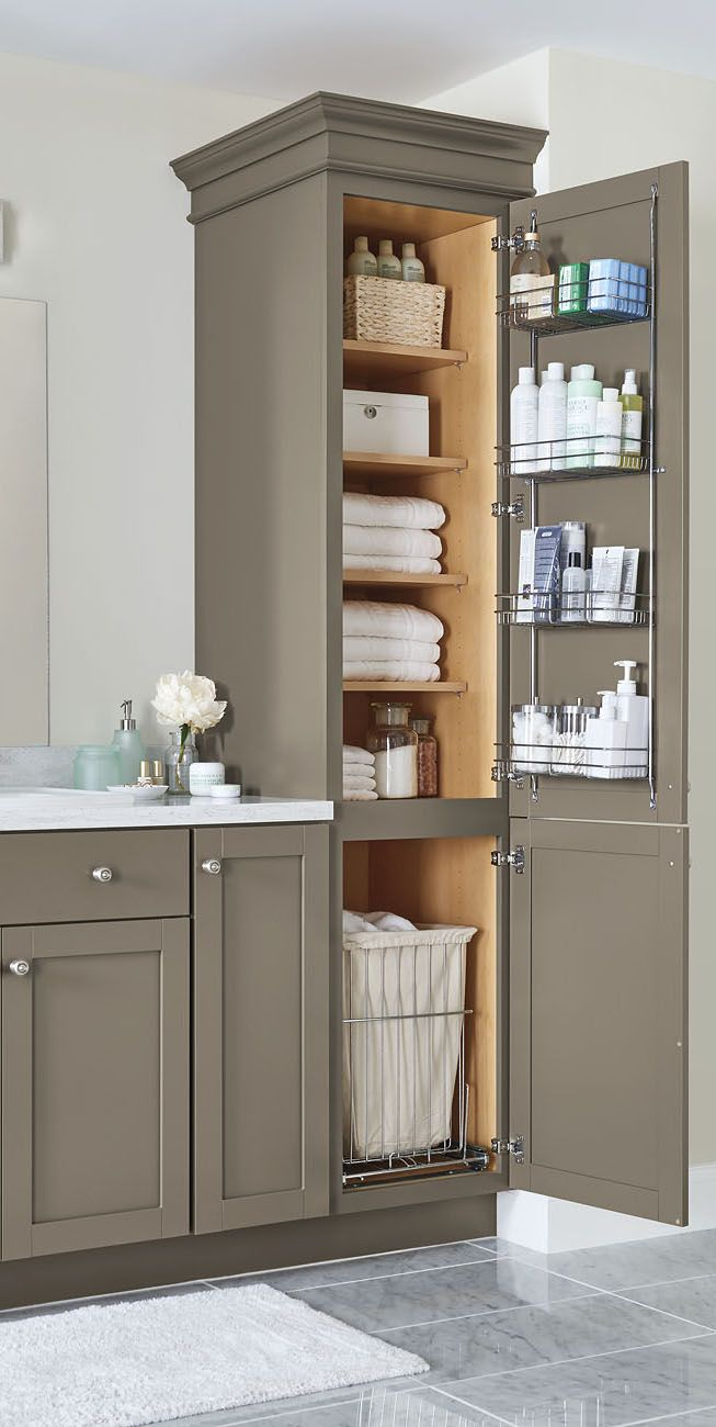 Our 2017 storage and organization ideas just in time for for Small bathroom vanity with storage