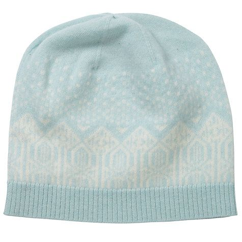 895e1c77192 Buy Pure Collection Isabelle Cashmere Fair Isle Hat
