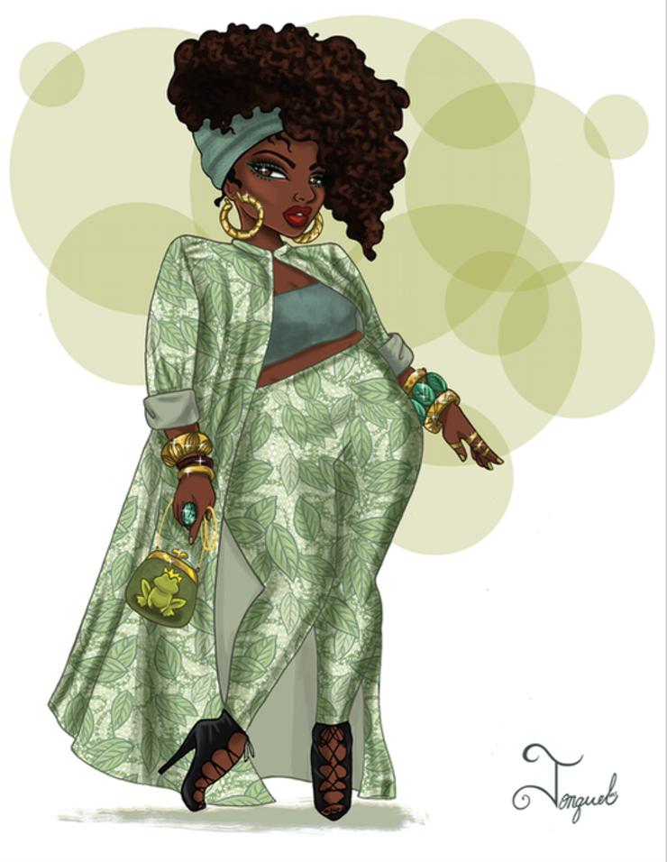 Plus Size Art Spotlight Jonquel Norwood S Magic At Any Size Series Plus Size Art Curvy Art Black Girl Art